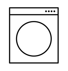 washing machine symbol vector image