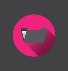 0510k flat folder icon vector