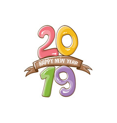 2019 happy new year poster design template vector