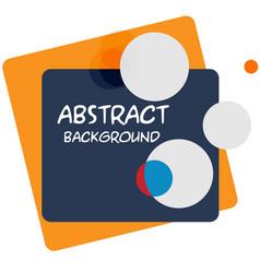 abstract black orange square circle white backgrou vector image