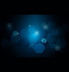 abstract dark blue geometric futuristic background vector image