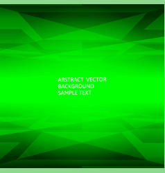 Abstract green geometric polygonal background vector