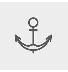 Anchor thin line icon vector