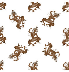 Apsara dancer seamless pattern vector