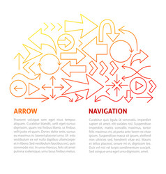 arrow navigation line template vector image