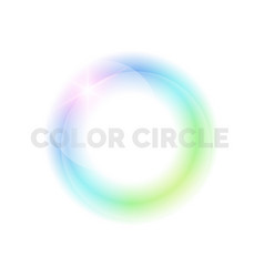 bright circle on a light background vector image