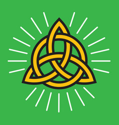 Celtic knot eternity symbol vector