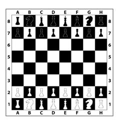Chessboard monochrome vector image