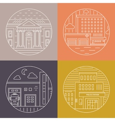 City architecture pictures vector