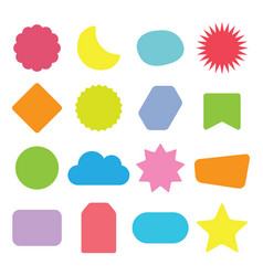 colorful and isolated kids shapes icons set vector image
