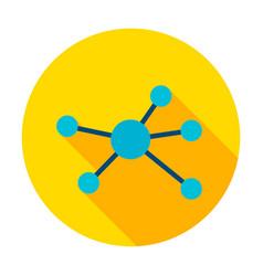 Connection graph circle icon vector