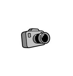creative cute camera logo design symbol vector image