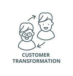 Customer transformation line icon linear vector