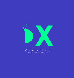 Dx letter logo design with negative space concept vector