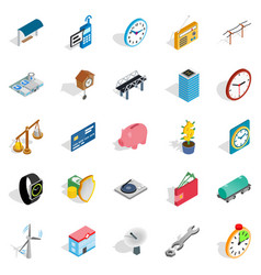 Fix communication icons set isometric style vector