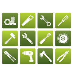 Flat different kind of tools icons vector