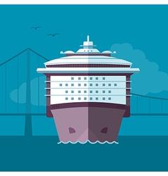 Flat ship vector