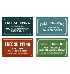 Free shipping stickers vector