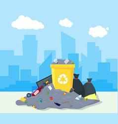 Garbage dump or landfill vector