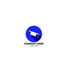 graduation hat logo education logo vector image