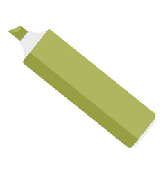 green marker icon flat style vector image