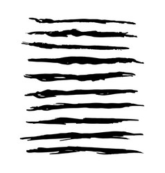hand drawn grunge brush strokes vector image