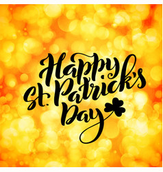 happy saint patricks day card template poster vector image