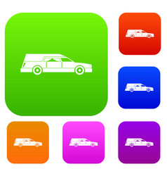 Hearse set collection vector
