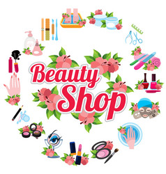 icons for beauty shop vector image