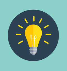 idea bulb flat design icon vector image