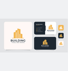 Inspirational building residential corporate logo vector