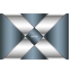 Luxury metallic background blue vector