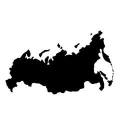 Map of russia vector