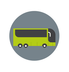 Modern tourist bus icon travel transport concept vector