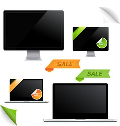 monitor screens vector image