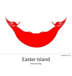 National flag easter island with correct vector