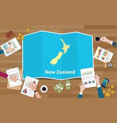 New zealand economy country growth nation team vector