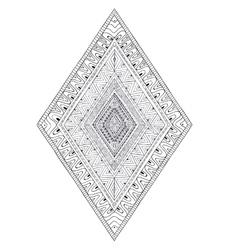 Original drawing ethnic tribal doddle rhombus 2 vector image