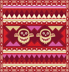 Ornamental pattern with amusing owls vector