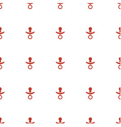 Pacifier icon pattern seamless white background vector