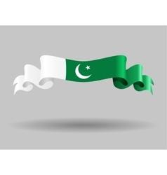 Pakistani wavy flag vector image