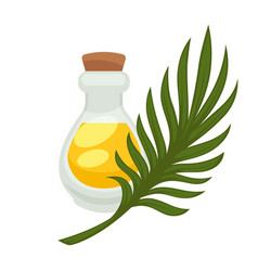 Palm oil in bottle flat isolated icon vector