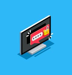 password unlock symbol vector image