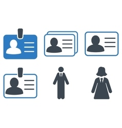 Person Account Card Flat Icons vector