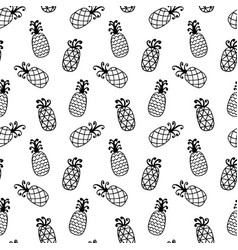 pineapples seamless pattern isolated on white vector image