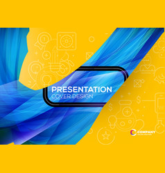 presentation cover design colorful abstract vector image