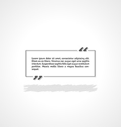 Quotation mark and text box vector