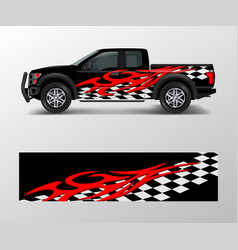 Racing graphic background for truck pickup and vector