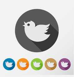 round bird icons set vector image vector image