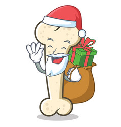 santa bone character cartoon mascot vector image